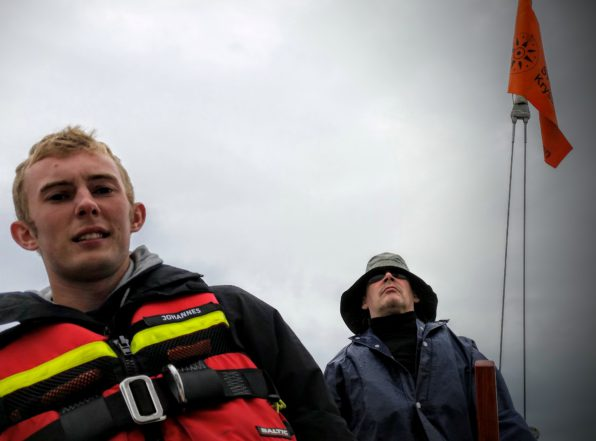 Johannes och Mark på Scampi SWE 5213 Vindil. Foto: Stefan Pettersson