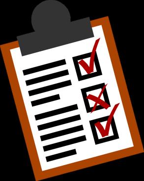 Grafik med stiliserad checklista.