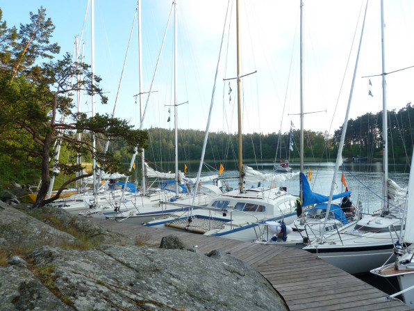 Samling i Norrviken efter Ensamseglingen.