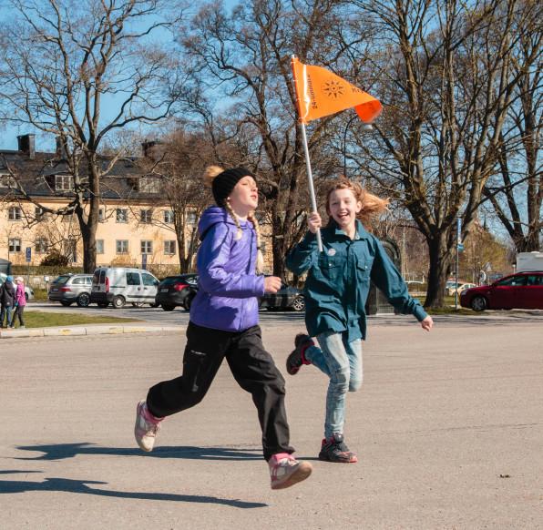 12-minuterspromenaden på Sjöscoutdagen 2015. Foto: Arne Wallers.