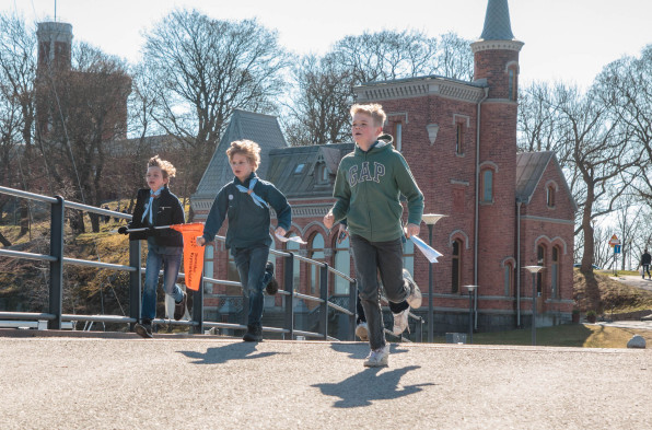 Scouter på Sjöscoutdagen. Foto: Arne Wallers.